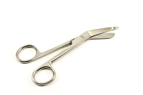 Surgical scissors for bandage cutting